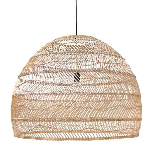 Wicker Hanging Lamp Natural - Large