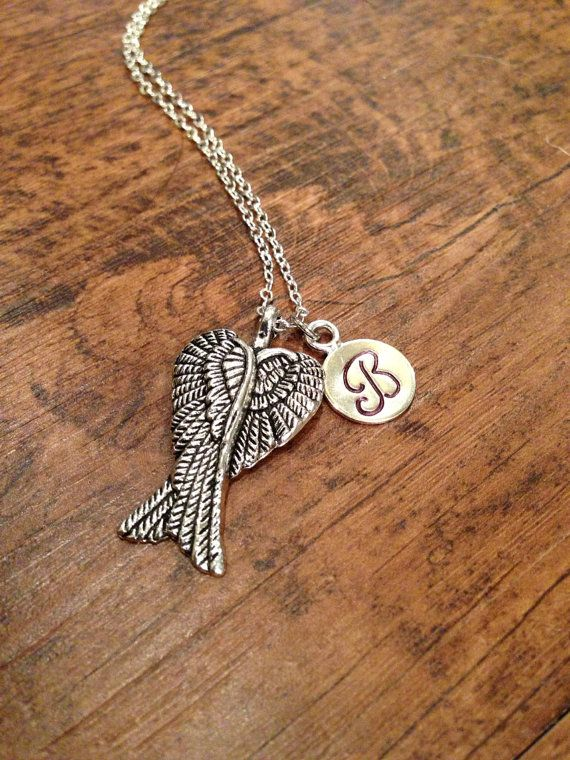 Angel wings necklace by kimsjewelry on Etsy, $16.00