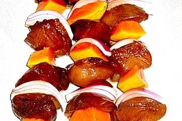 Papaya - Hähnchen - Spieße für den Grill