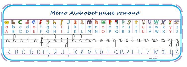 un marque page m mo des alphabets utilis s en suisse romande ecriture pinterest marque. Black Bedroom Furniture Sets. Home Design Ideas