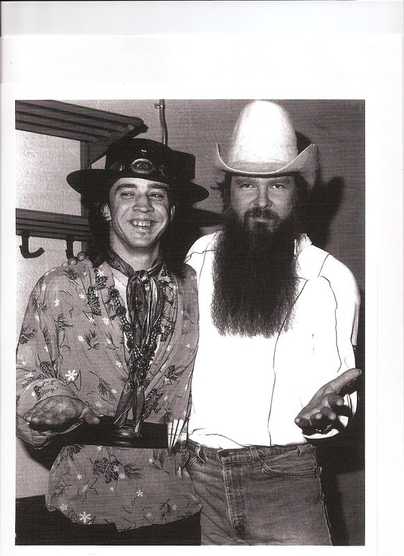 Stevie Ray Vaughan and Billy Gibbons ♡... Re-pinned by StoneArtUSA.com ~ affordable custom pet memorials for everyone.