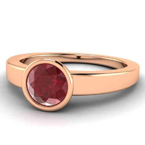 Rubinring in 585er Rosegold von www.diamantring.be