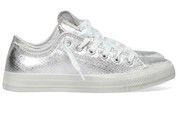 Zilveren Converse schoenen All Star OX Metal