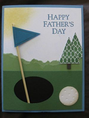 Golf, Father's Day card, pennant punch, Stampin Up