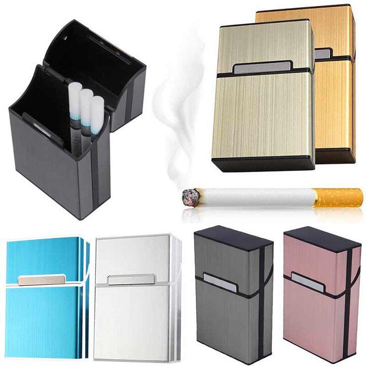 Papierośnica Lekkiego Aluminium Cygara cygara Tytoń Holder Kieszonkowy Box Pojemnik Magazynowy TB Sprzedaż
