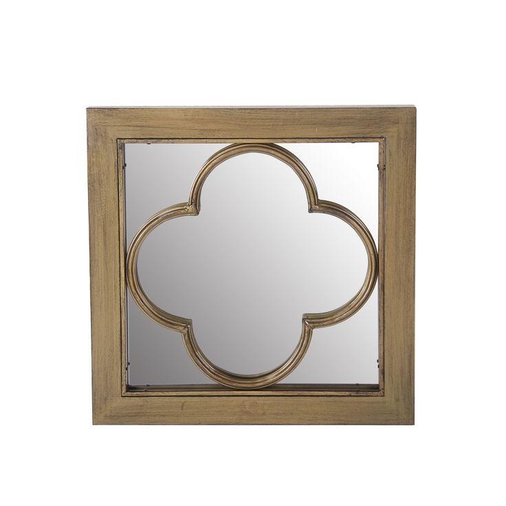Colette Antique White Venetian Mirror