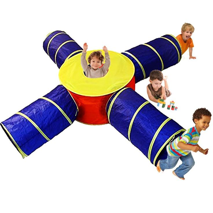 Toy Cubby 4 Way Tube Pop-up Developmental Toy Tent Kid Tunnel