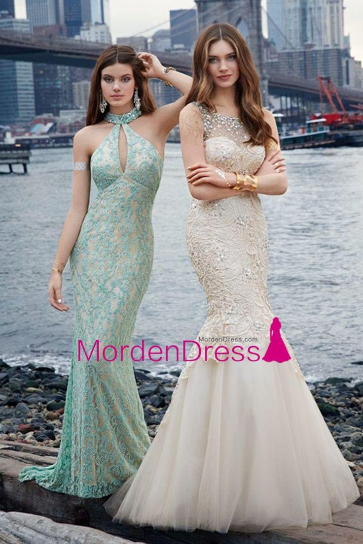 2015 Scoop Prom Dresses Mermaid/Trumpet Lace