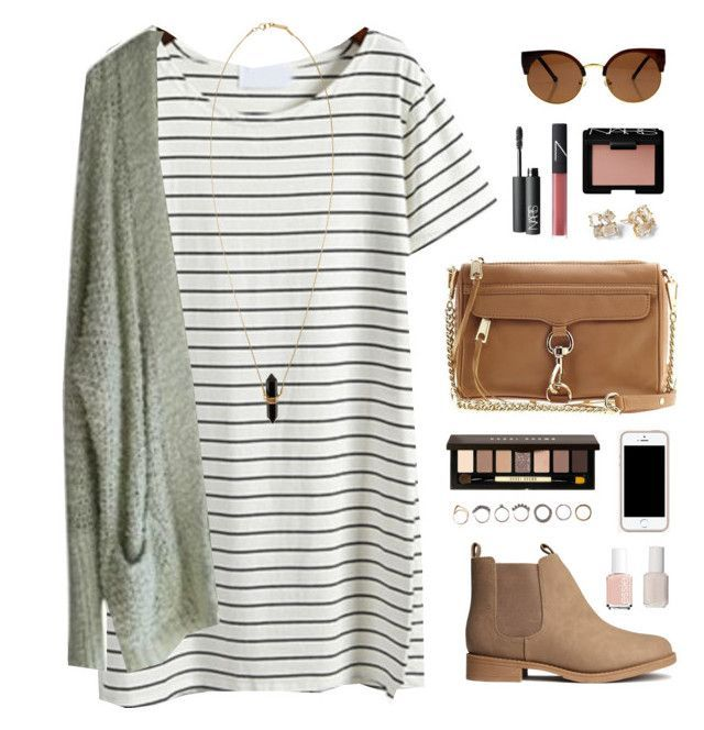 #Summer #Outfits / Striped Short Dress + Suede Booties