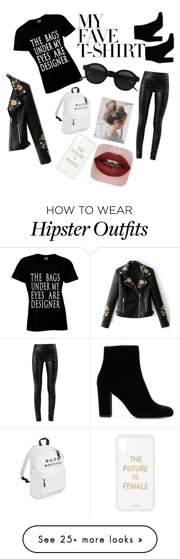 """""""tired"""" by knstare on Polyvore featuring Helmut Lang, WithChic, Sonix and MyFaveTshirt"""