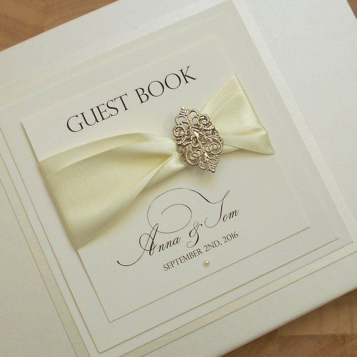 Wedding Guest Book Wedding Guestbook Bridal Journal By