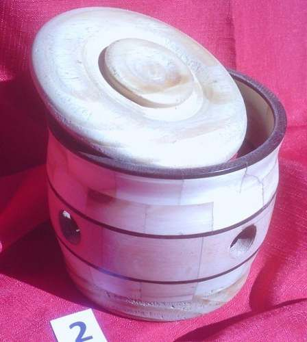 regalo artesanal de madera torneada - único
