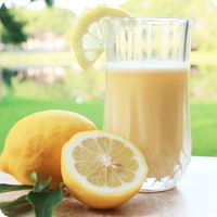 Lemon Drop   8 Tbsp Almased® / 2 1/2 tsp lemon extract / 1 tsp oil (olive, flaxseed or walnut) / 1 tsp stevia   One serving contains: 220 calories, 27 g protein, 15 g carbs, and 6 g fat.
