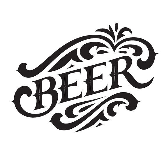 Beer Vinyl Wall Graphic Decal Sticker. Great for decorating a wall in your home…