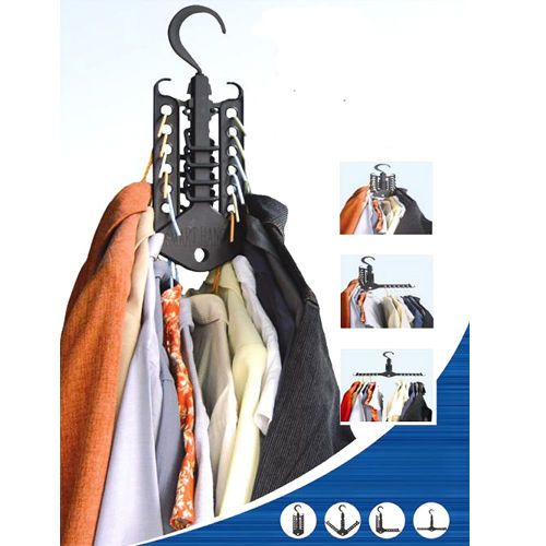 2 New Folding Multi-function Magic Hangers Clothes Rack