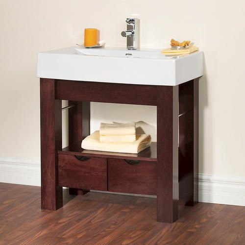 30 1 4 sonata collection vanity base at menards main for Powder bathroom vanities