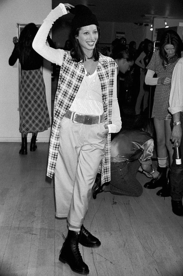 Christy Turlington at Perry Ellis 1993