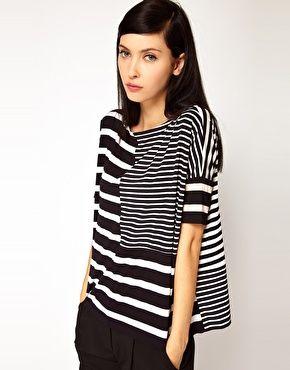 Antipodium Syntax T-Shirt in Patchwork Stripe