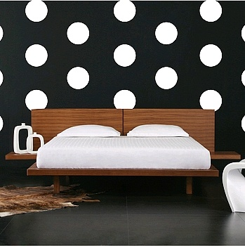 Equal Polka Dot Wall Decals | WNL Wall Stickers | d00 - same size dots, come in turquoise