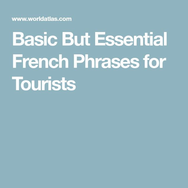 basic french phrases for tourists pdf