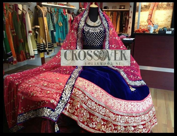 Crossover bollywood se. royal blue. Love the border