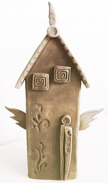 ceramic house: