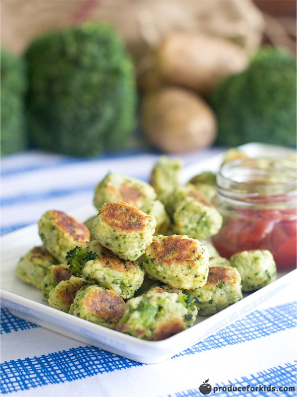 Kids love tater tots! These homemade broccoli tater tots are easy to make and freezer-friendly. Make an extra batch to freeze for an easy dinner or lunch side dish. Pair these with our Healthy Chicken Nugget recipe! Recipe created by Christine Pittman in partnership with Produce for Kids.