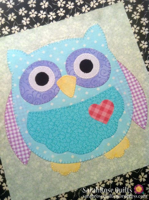 Owl Quilt Block | applique quilt block