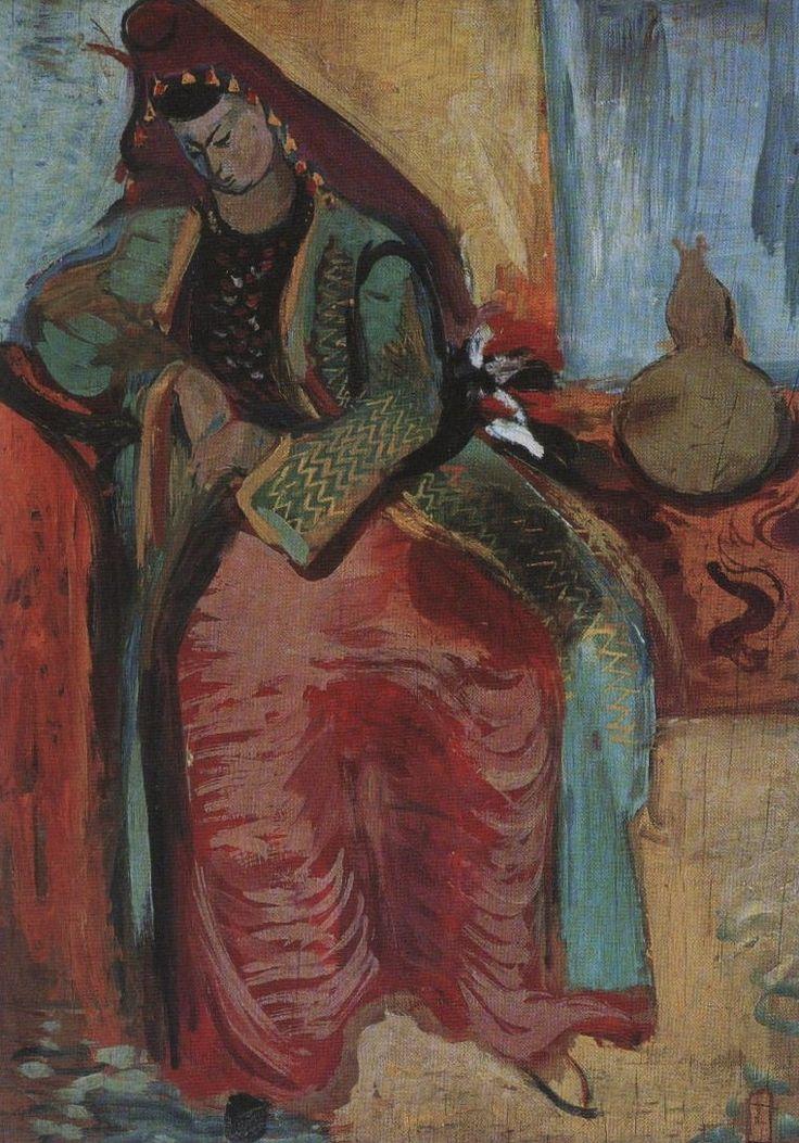 """Eren Eyüboğlu (1907 – 1988) Bedri Rahmi Eyüpoğlu'nun eşidir. Bedri Rahmi """"Ben sonradan ressamım. Eren anadan doğma ressamdır"""" der. Resimlerinde yarı soyut ve dışa vurumcu denebilecek bir doğa, geleneksel yaşama ait konuları resmetmiştir. Resmin yanı sıra mozaik çalışmaları da vardır. Romanya doğumlu olmasına rağmen Anadolu coğrafyası, kültür zenginlikleri, Anadolu insanı resimlerinin başlıca esin kaynağı oldu."""