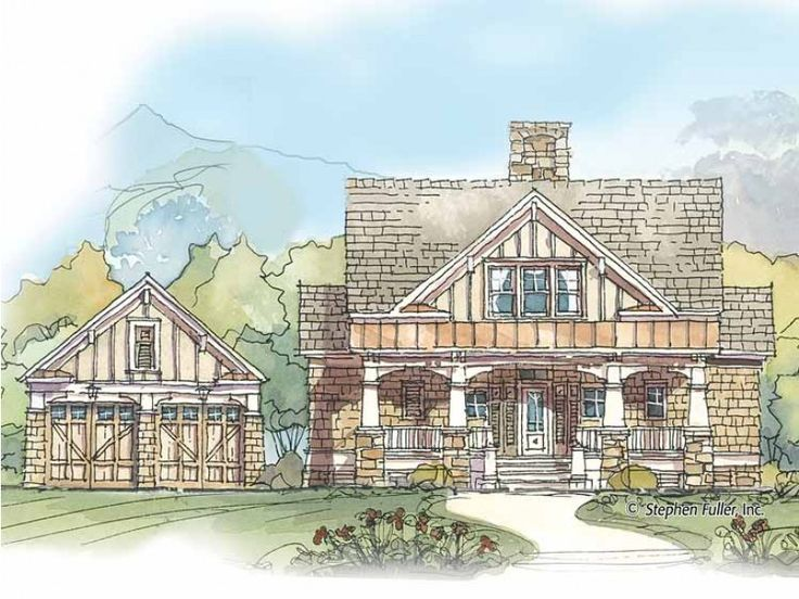 36 best cabin plans images on pinterest cottage house for Eplans craftsman bungalow 11192