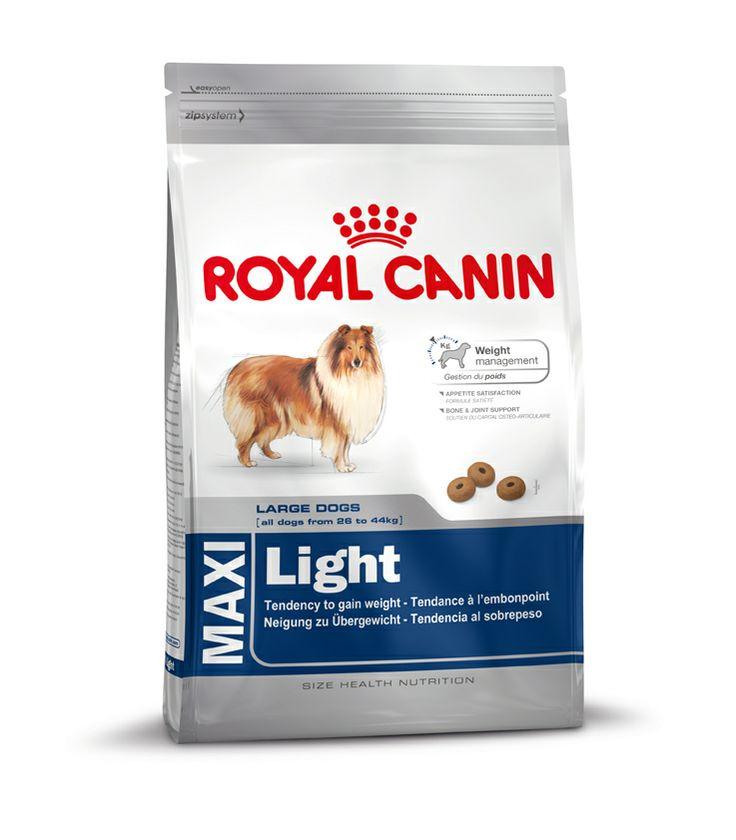 MAXI Light - Alleinfuttermittel für große, ausgewachsene #Hunde mit einer Neigung zu #Übergewicht – ab dem 15. Monat. 30% geringere #Energiezufuhr bei gleichbleibender Portionsmenge. Ein hoher #Proteingehalt (27%) trägt in Kombination mit einem geringen #Fettgehalt (11%) dazu bei, das #Idealgewicht zu halten. L-Carnitin unterstützt den Fettstoffwechselprozess. * Im Vergleich zu einem durchschnittlichem Erhaltungsfutter.