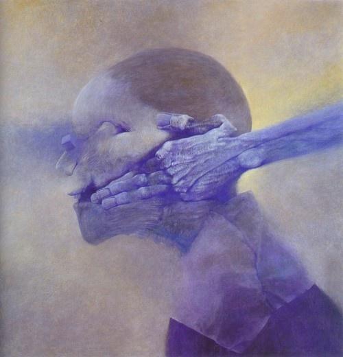 Painting by Zdzislaw Beksinski