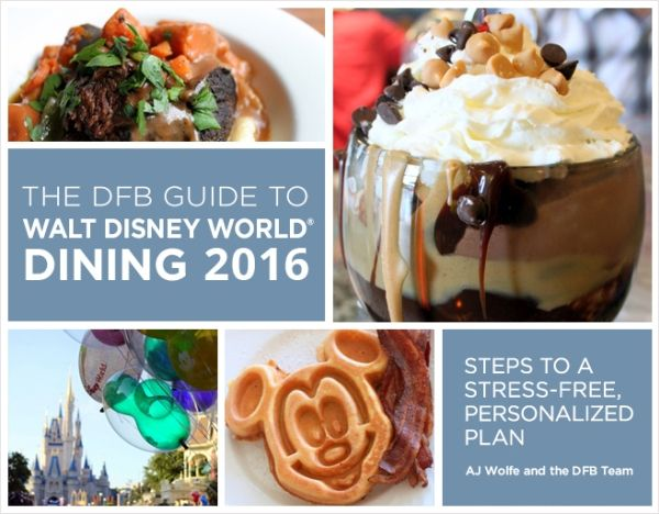 Restaurant Dining Menus from Walt Disney World