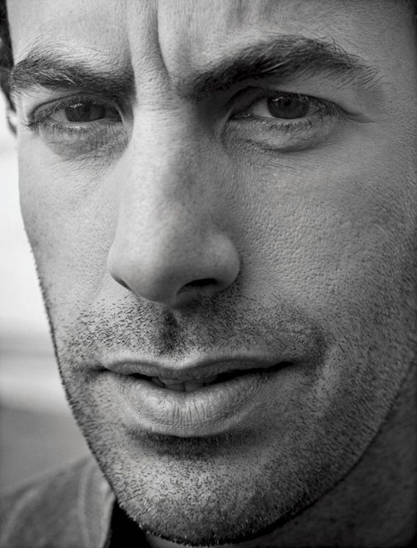 I find him strangely extremely attractive! Sacha Baron Cohen by Mark Seliger