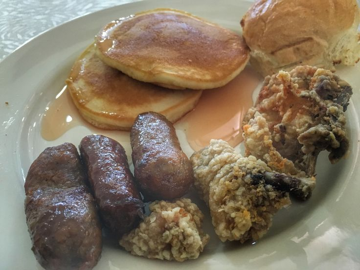 Selections from the breakfast buffet