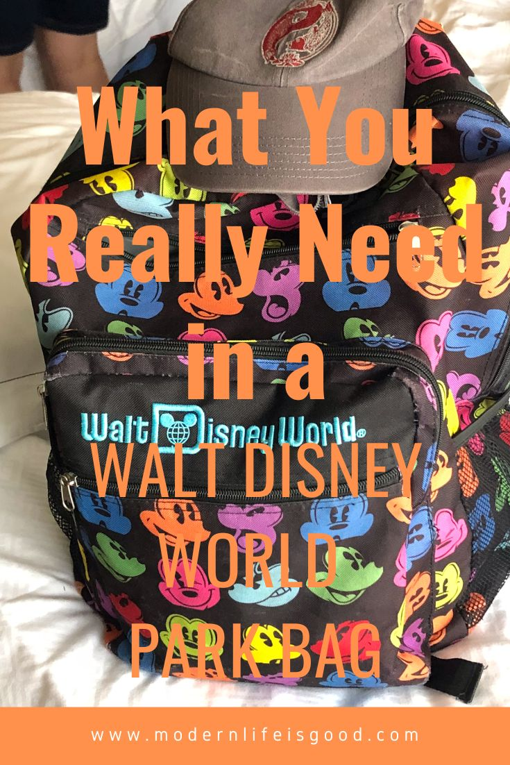 Disney World Park Bag What You Really Need - Modern Life is Good