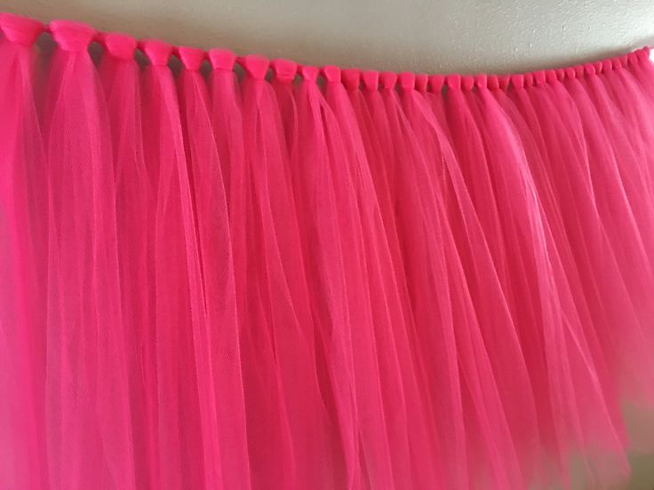 Fuchsia Tulle Table Skirt- Pink Tulle Table Skirt- Table Tutu- Tulle Table Tutu- Table Skirt- Will Custom Make any Colors and Sizes by AvaryMaeInspirations on Etsy