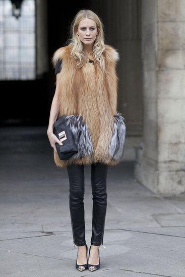 fur + leathery