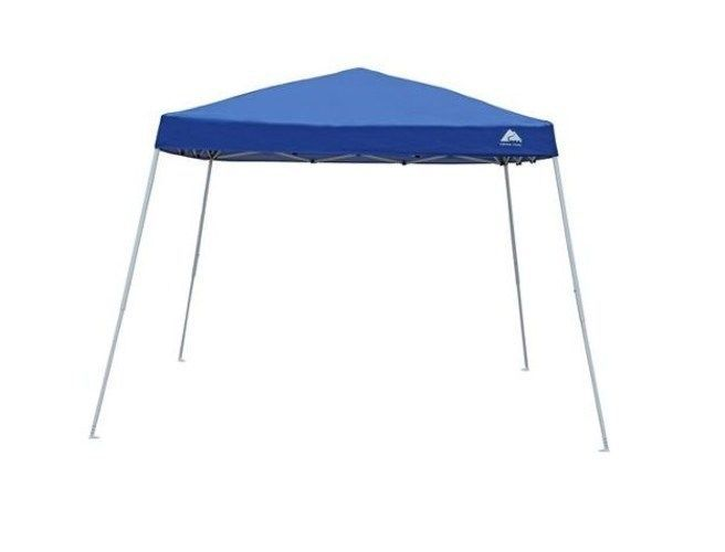 Portable Gazebo With Slant Leg 9'x9' Outdoor Quick Set Up Patio Tent Canopy Blue #Unbranded