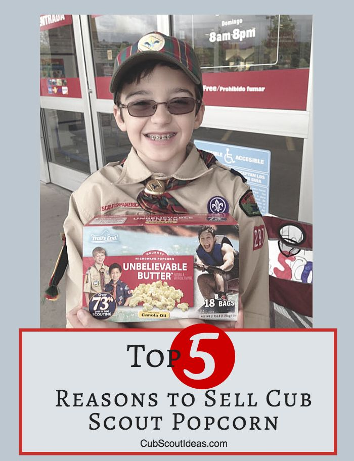 Selling Cub Scout popcorn gives your son opportunities to practice important life skills. Read about them in this article.