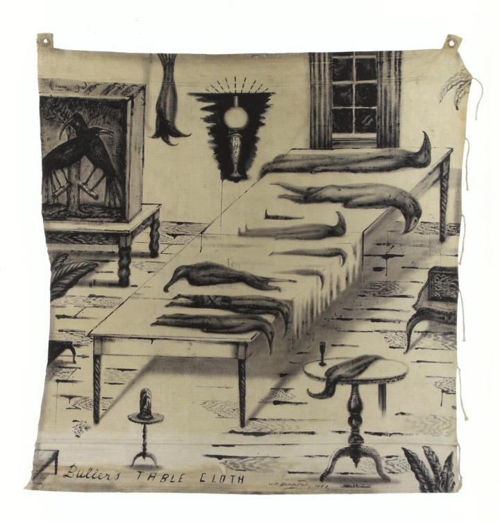 """Bill Hammond, """"Buller's Table Cloth"""", 1994."""