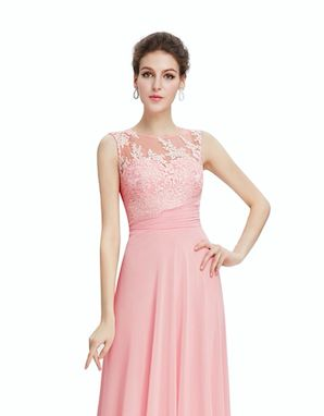 Bridesmaids dress with a lace top and chiffon skirt.In a soft pink colour. info@michelangela.co.za tel:+27767110972