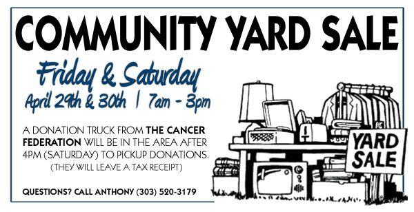 Garage Sale Flyer | Harvest Lane Community News - Find out ...