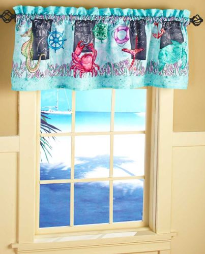 Tropical-Window-Valance-For-Bathroom-Decor-Ideas-Crab-Seahorses-Starfish-Turtle