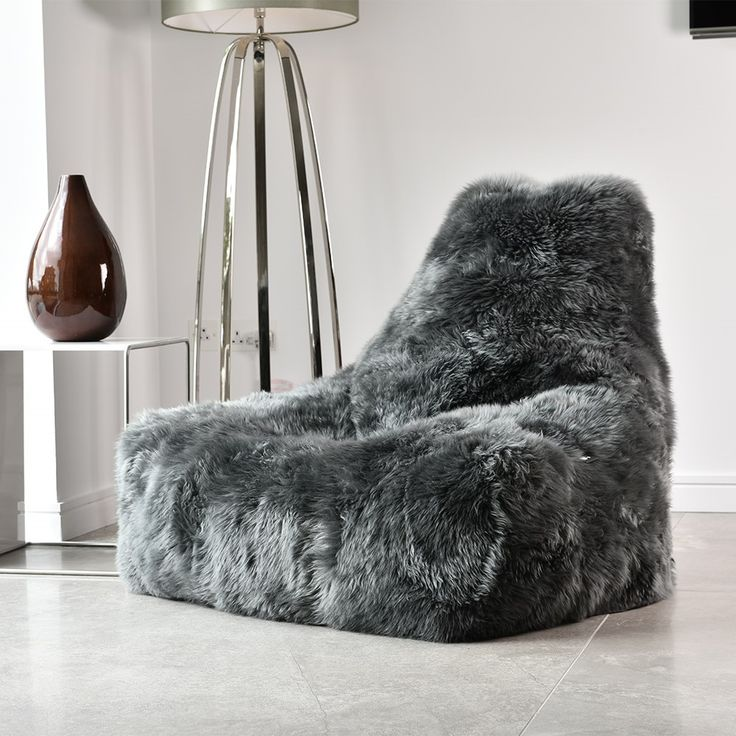 Luxury Large Fur Sheepskin Bean Bag