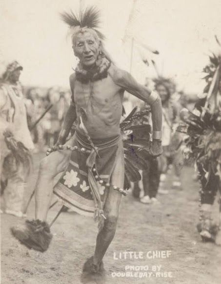 Sioux warrior, Little Chief. South Dakota. 1905. Not many historical photos of Indians dancing/praying