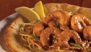 BBQ Shrimp linguine also from Copeland's Cheesecake Bistro