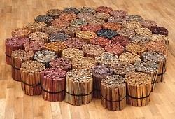 "#alighieroboetti's retrospective ""Game Plan"" opens soon at MOMA NY: July 1, 2012! Image: ""Legnetti colorati"" (Little Coloured Sticks), 1968, a masterpiece from the Arte Povera period."