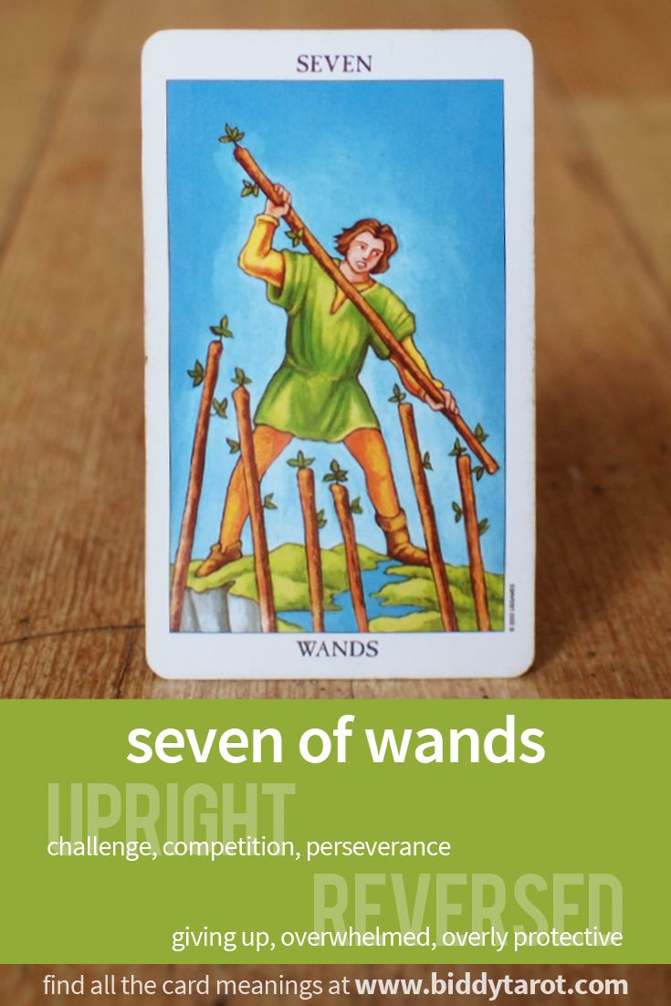 Seven Of Wands #tarotcardmeaning Learn More At Https://www