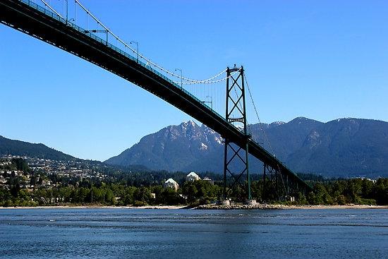 Lion's Gate Bridge, Stanley Parc, Vancouver.